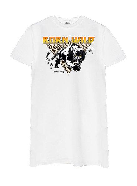 T-shirt dress Born Wild, White