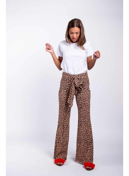 Colourful Rebel Colourful Rebel, Charlotte Leopard Palazzo Pants, Brown