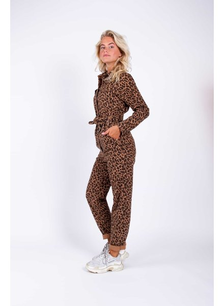 Colourful Rebel, Kelsie Leopard Boilersuit, Brown