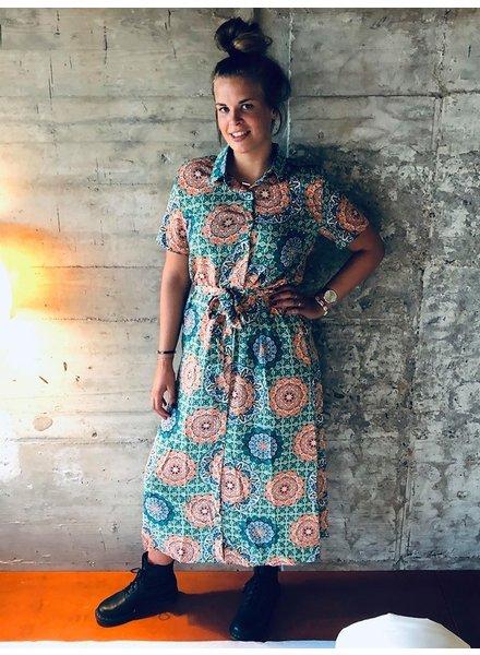 RBLZ, Print maxi dress, Green