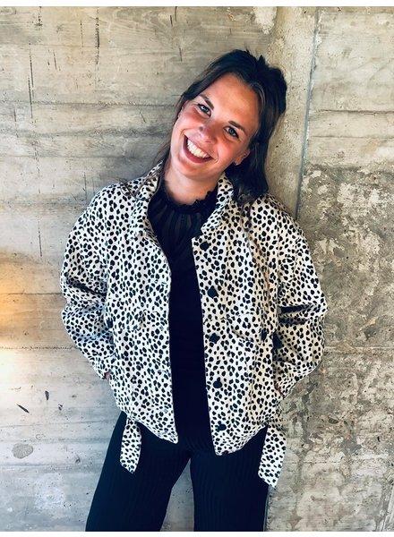 Ambika Ambika, Jeans jacket dots, White