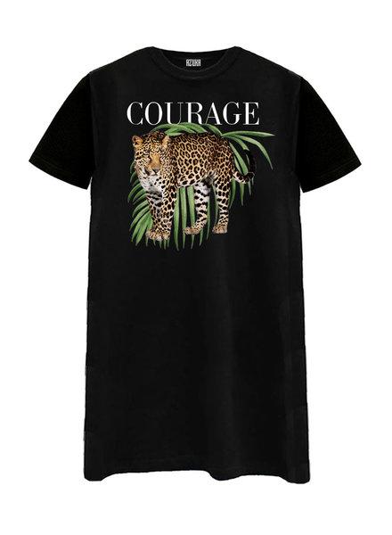 T-shirt dress Courage, Black
