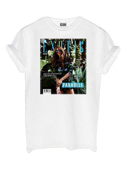 T-shirt Exotic, White