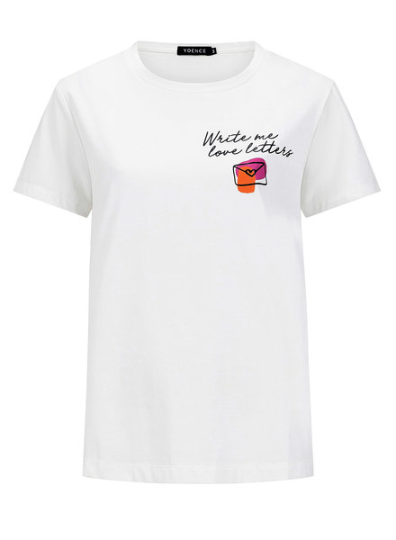 Ydence Ydence, T-shirt love letters, White