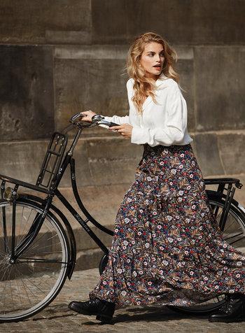 Ydence Ydence, Skirt Rosa, Brown flower print