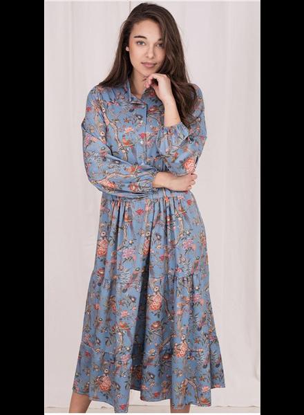 Dress Birds/Flowers, Blue