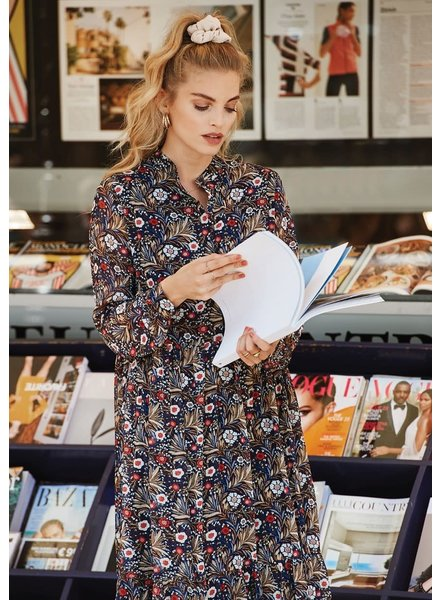 Ydence Ydence, Abigail maxi dress, Brown flower print