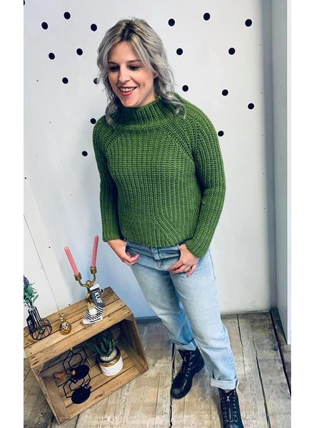 Turquoise, Sweater Turtle Neck, Khaki