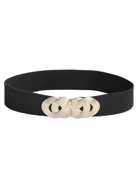 YW, Belt Double Knot, Black/Gold