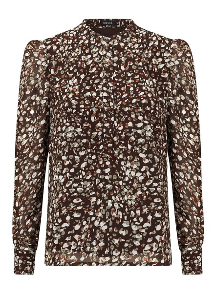 Ydence Ydence, Blouse Marie Lou, Brown Leopard