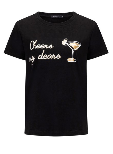 Ydence Ydence, T-shirt Cheers My Dears, Black