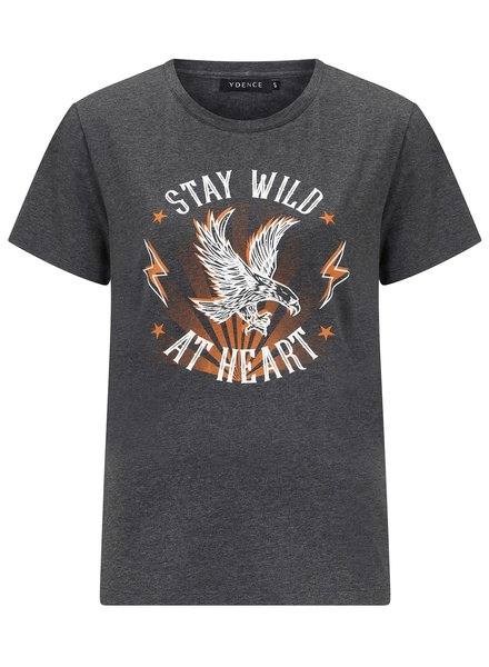 Ydence Ydence, T-shirt Stay Wilde, Grey