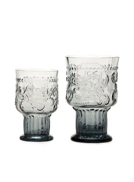 Glas, FLEUR DE LYS BOKAAL S, GRIJS