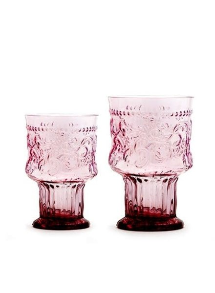 Glas, FLEUR DE LYS BOKAAL L, POEDERROZE