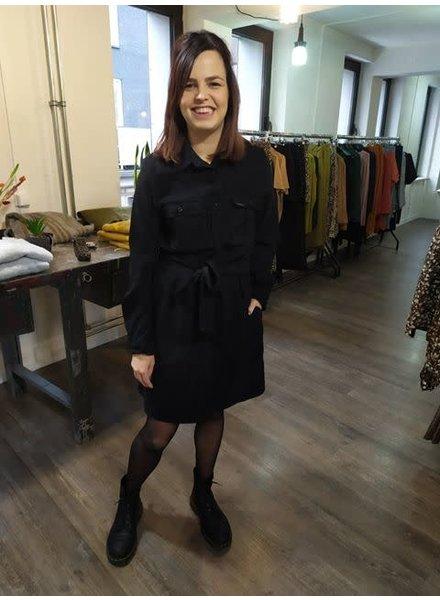 Rib Dress, Black