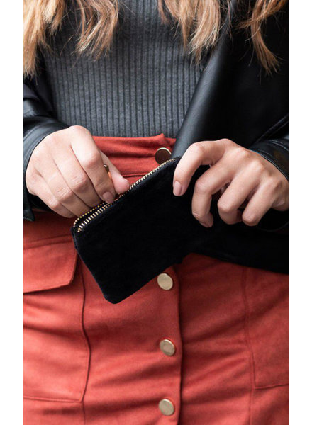 Bulu Brands, Wallet Uni Gold Zipper, Black