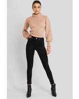NA-KD NA-KD, Skinny high waist, Black