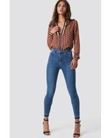 NA-KD NA-KD, Skinny high waist, Mid blue