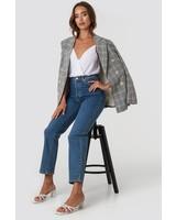 NA-KD NA-KD, Straight high waist jeans, Mid blue