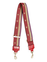 YW, Bag strap sparkling star, red