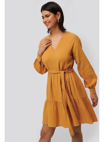 NA-KD Na-kd, V-neck dress, Yellow