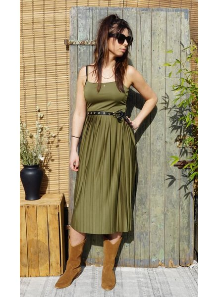 NA-KD NA-KD, Pleated Strap Dress, Khaki