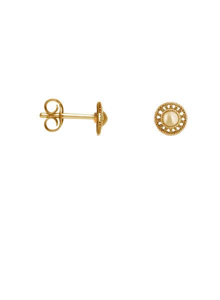 Label Kiki, Earring shield round, Gold
