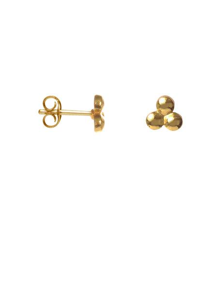 Label Kiki, Earring triangle dot, Gold