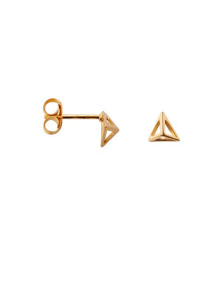 Label Kiki, Earring triangle pyramid, Gold