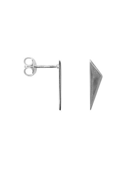 Label Kiki, Earring traingle point, Silver