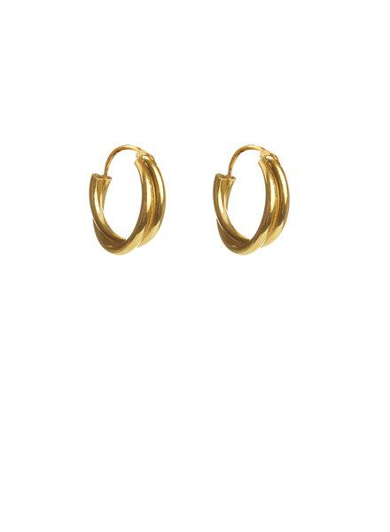 Label Kiki, Earring double twisted hoops, Gold