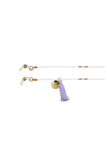 Bulu Brands, Happy Beads Suncord, White & Lila
