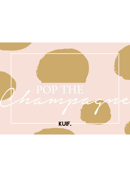 kaartenlijn KUIF, Pop the champagne