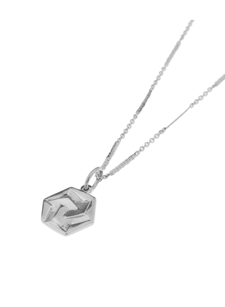 Label Kiki, Necklace Hexagon Infinite Silver