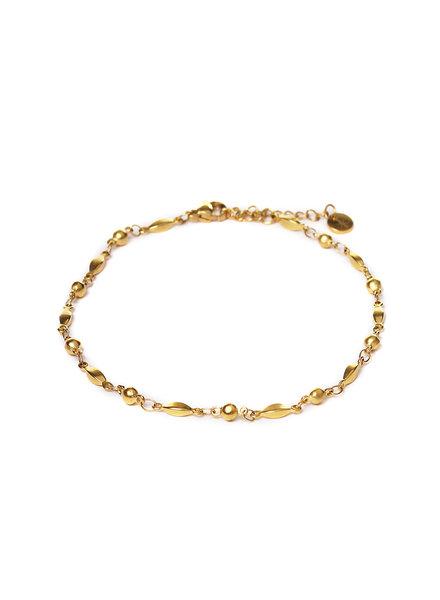 Label Kiki, Dot Cone Anklet Gold