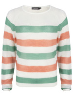 YDENCE Knit Lizzy, Green/Coral