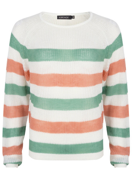 Ydence Ydence, Knit Lizzy, Green/Coral