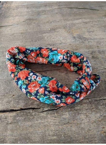 Bulu Brands, Headband Flower, Multicolor Orange