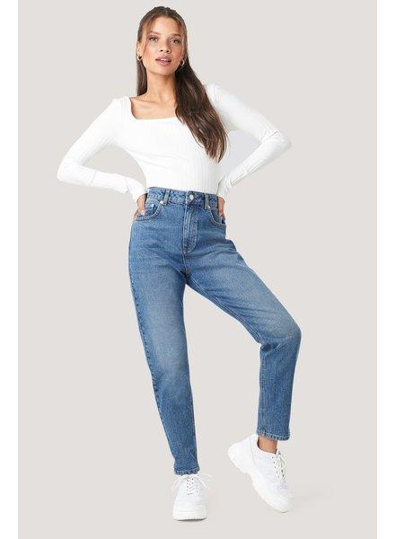NA-KD Na-kd, Mom jeans, Mid blue