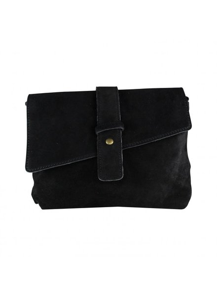 BS, Strap bag suede - zwart