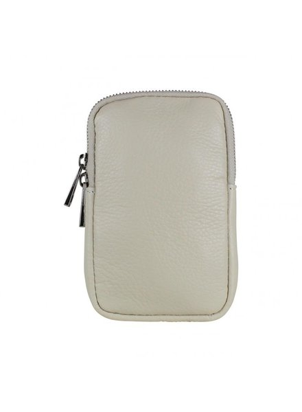 Baggy shop BS, Call Me Up Leather - Beige (Zilver)