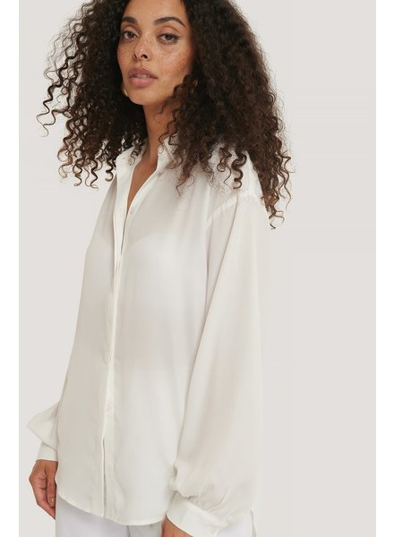 NA-KD NA-KD, Sheer Balloon Sleeve Blouse, White