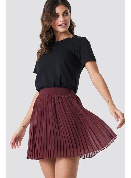 NA-KD NA-KD, Pleated Mini Skirt, Red Wine