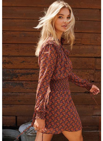 Ydence Ydence, Puck blouse, Brown orange print
