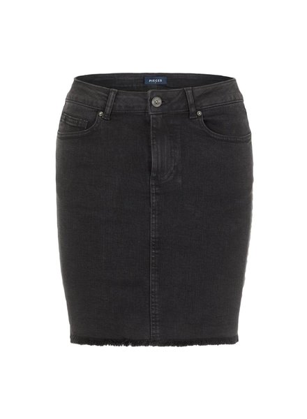 Pieces Pcaia denim skirt, Black