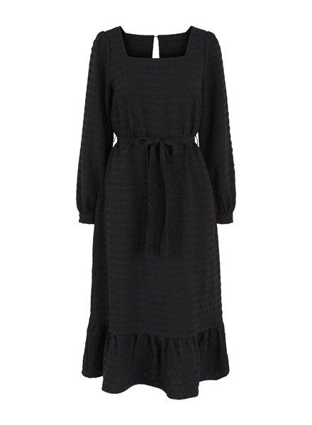 Pieces Pckuma Ls midi dress, Black