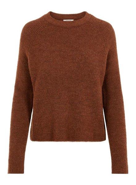 Pieces Knit PCellen, Brown