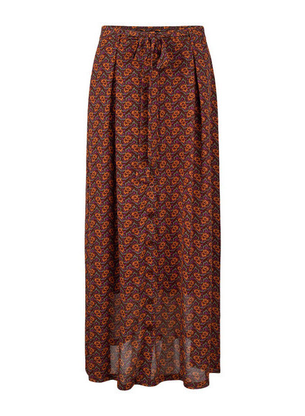 Ydence Skirt Ameli, Brown/orange print