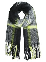 YW, scarf, neon yellow