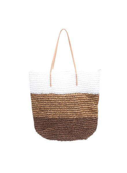 YW, Beach Bag, Brown